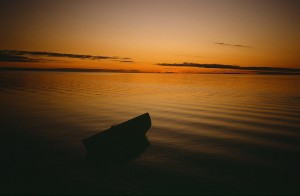 Summer sunset, Kotzebue, Alaska mid to late 1980S