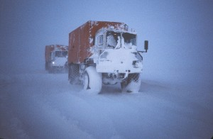 Winter Storm, Seismic Camp on the frozen Beaufort Sea ice, 1982-1983